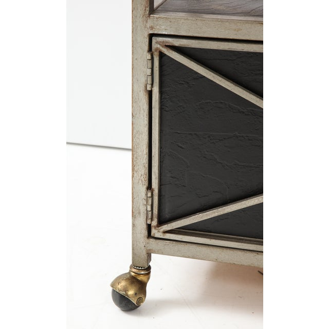 Brass and Steel Console For Sale - Image 12 of 13