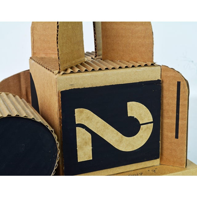 Cubist Bauhaus Style Architectural Cardboard Table Sculpture by Virgil Greca For Sale - Image 10 of 13