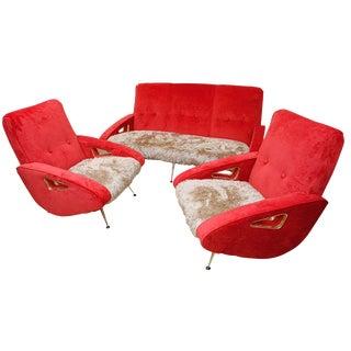 Exuberant Maurice Mourra Mid-Century Sofa Set For Sale