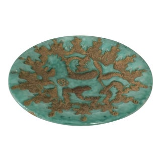 Textured Ceramic Catch-All Dish For Sale