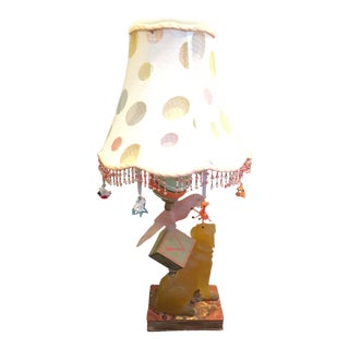 Makenzie Childs Inspired Table Lamp For Sale