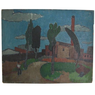 Vincent Spagna 1940s Factory Painting For Sale
