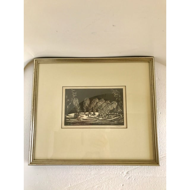 1928 Signed Zebra Lithograph - Image 6 of 10