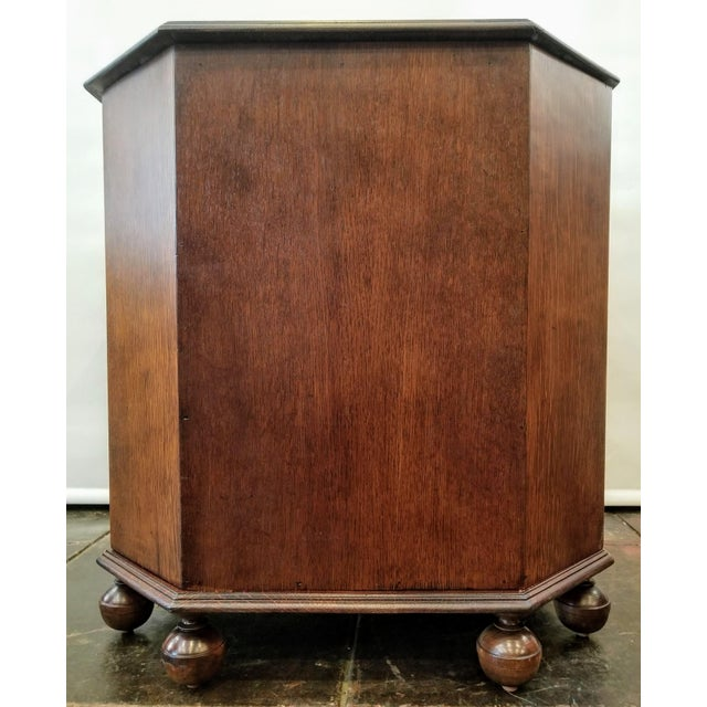 Heals and Sons 1920s Art Deco English Oak Drinks Cabinet / End Table / Bookcase by Heal & Son For Sale - Image 4 of 7