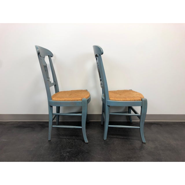 Country Cottage Shabby Chic Painted Distressed Dining Chairs - Pair 2 For Sale - Image 4 of 11