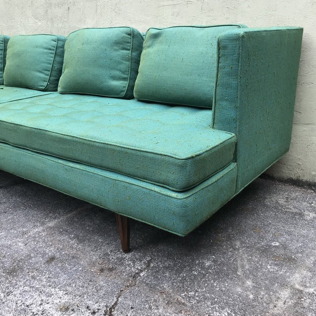 1960s Edward Wormley 4907a Sofa for Dunbar With Knoll Fabric & Rosewood Legs For Sale - Image 5 of 13