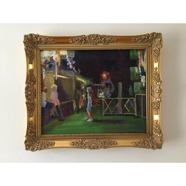 """""""Carnival Night!"""" Contemporary Figurative Oil Painting by Marina Movshina, Framed For Sale - Image 10 of 11"""
