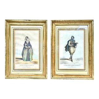 19th-Century French Lithographs - A Pair