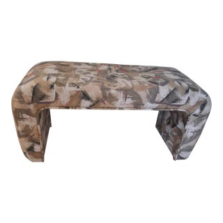 1990's Waterfall Upholstered Bench For Sale
