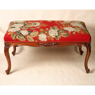 1940s Vintage French Tapestry Bench Preview