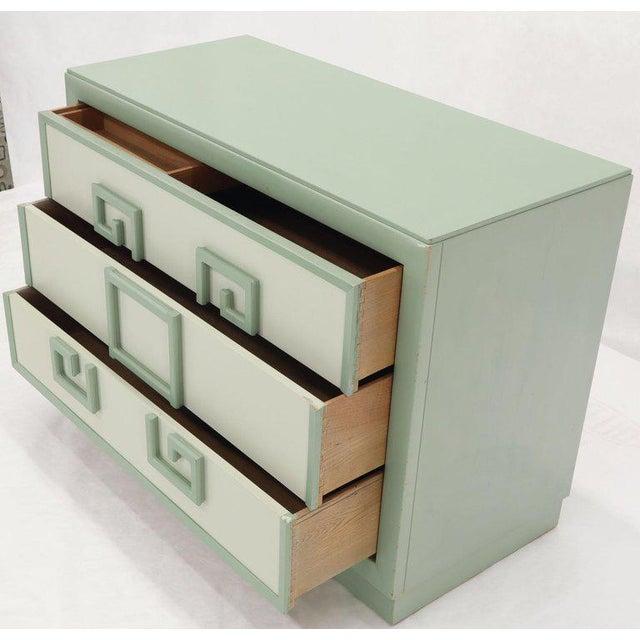 Kittinger Mandarin Style Bachelor Chest Dresser Blue and White Lacquer For Sale - Image 9 of 12