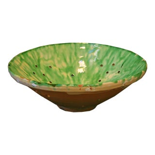 Antique Spanish Ceramic Bowl For Sale