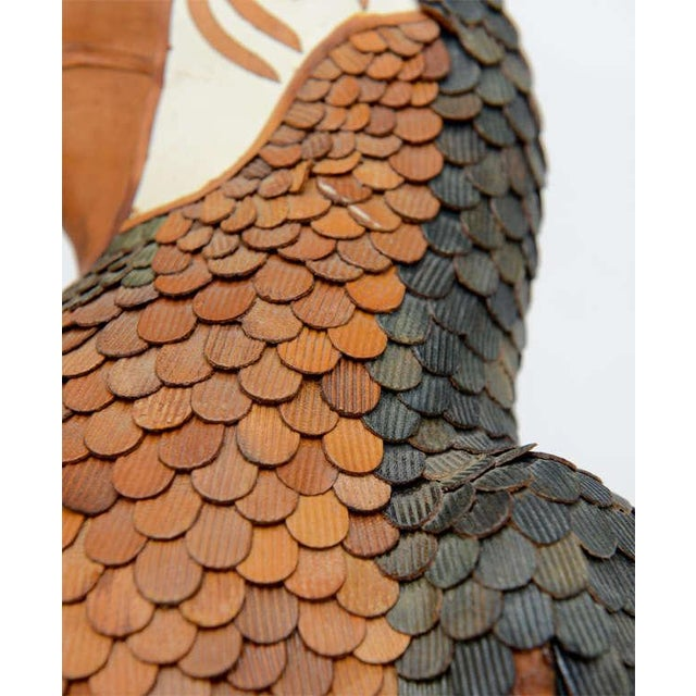 Vintage Leather Parrot by Federico For Sale - Image 9 of 10