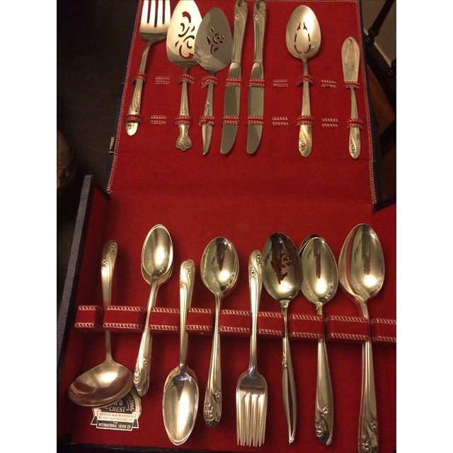 Holmes Mid-Century Holmes & Edwards Flatware - Set of 46 For Sale - Image 4 of 7