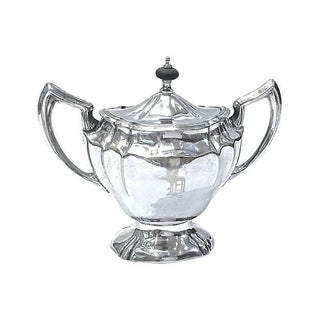 Antique Silver-Plated Monogrammed Creamer For Sale