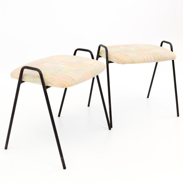 Castelli Style Italian Iron Stool Ottomans 18.5 wide x 15 deep x 16 high Please note: This listing price is for ONE...
