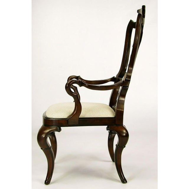 1970s Pair of High Back Carved Walnut Gothic Style Armchairs For Sale - Image 5 of 9