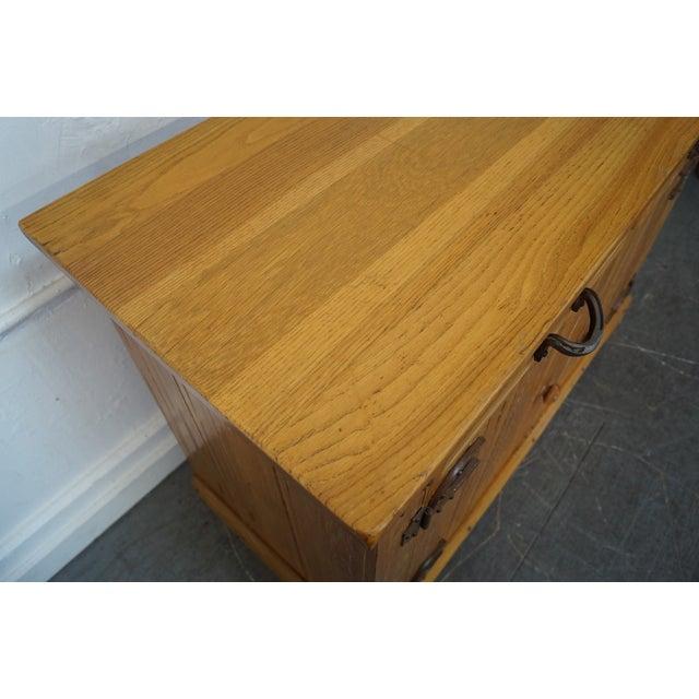 A. Brandt Ranch Oak Furniture Brandt Ranch Oak Horseshoe Hinge Sideboard For Sale - Image 4 of 10