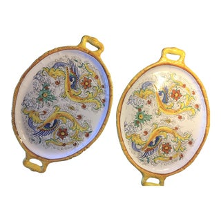 Ceramic Italian Raffaellesco Trays - A Pair