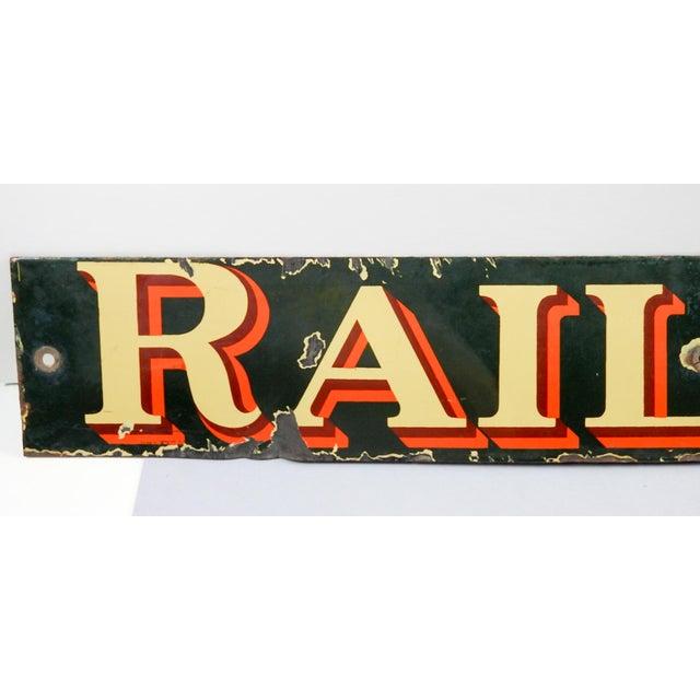Americana Vintage British Railway Sign For Sale - Image 3 of 5