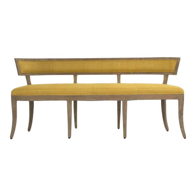 Earls Bench in Yellow For Sale