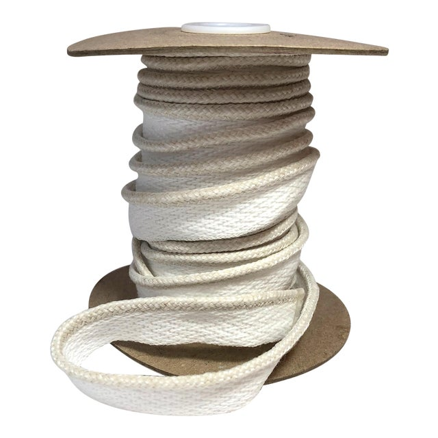 """Braided 1/8"""" Indoor/Outdoor Cord in Ivory-White For Sale"""