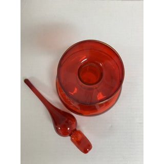1960s Red Rainbow Glass Decanter Preview
