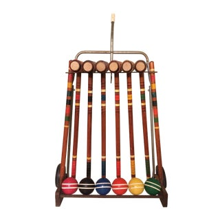 Vintage Croquet Set and Cart