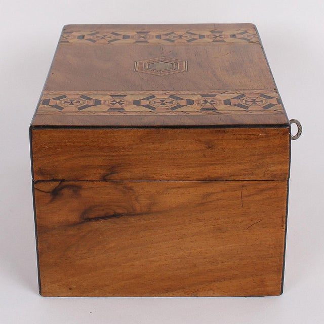 19th C. English Box With Exquisite Marquetry For Sale In San Francisco - Image 6 of 11