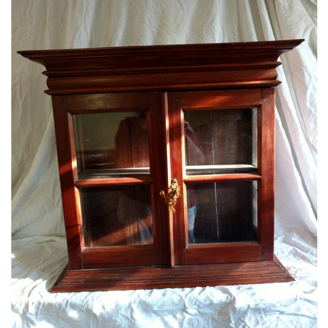 Brown 1920s Hand Carved Rosewood Table Top Cabinet For Sale - Image 8 of 8
