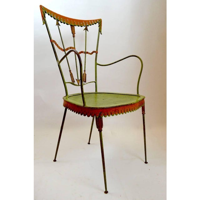 Pair of Tomaso Buzzi Wrought Iron Armchairs For Sale - Image 9 of 10