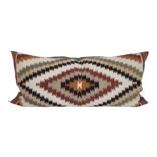 Geometric Navajo Weaving Bolster Pillow For Sale