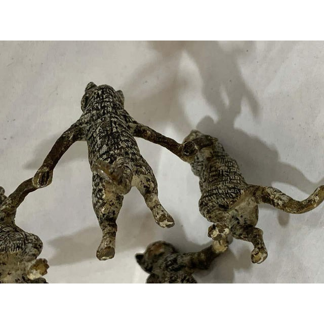 Vienna Cold Painted Bronze Dancing Cats, Attributed to Bergman For Sale - Image 4 of 11