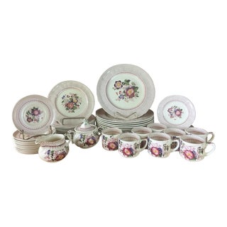 1940s Mason's Ironstone Paynsley Pattern Dinnerware- 51 Pieces For Sale