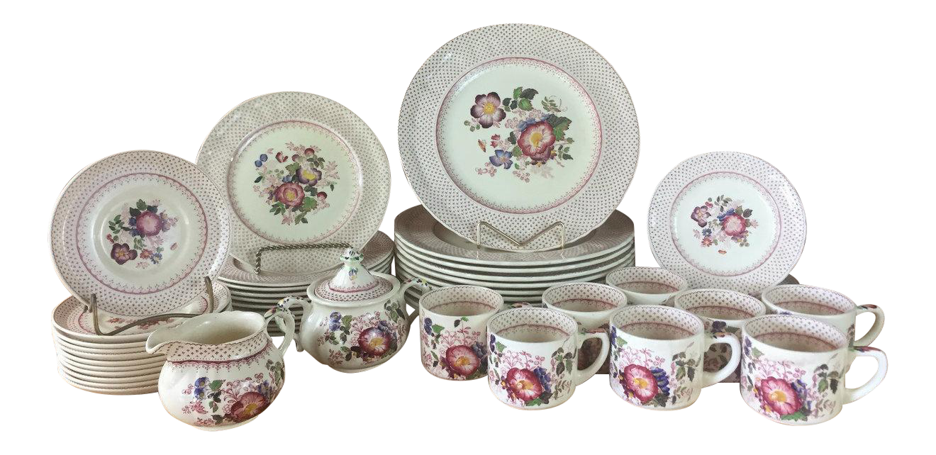 1940s Masonu0027s Ironstone Paynsley Pattern Dinnerware- 51 Pieces - Image 1 of 11  sc 1 st  Chairish & 1940s Masonu0027s Ironstone Paynsley Pattern Dinnerware- 51 Pieces ...