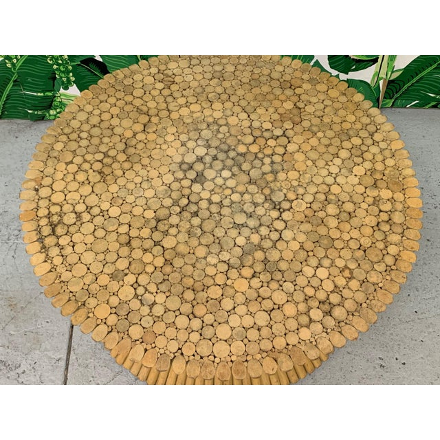 1970s McGuire Sheaf of Wheat Rattan Coffee Table For Sale - Image 5 of 8