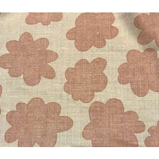 """Kerry Joyce """"Flower Power"""" Love Pink Linen Fabric - 10 Continuous Yards For Sale"""