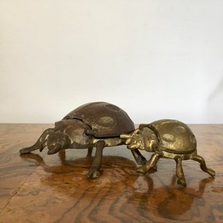 Brass Beetle Ashtrays, Pair Preview