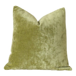 Chartreuse Velvet Pillow Cover 16x16 For Sale