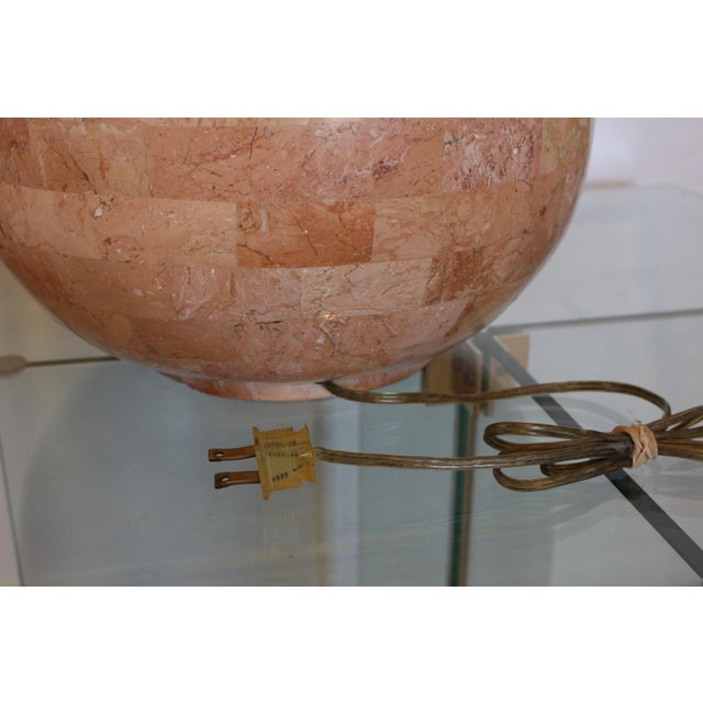 Marble Maitland-Smith Tessellated Stone Lamp For Sale - Image 7 of 11