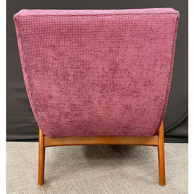 Pair of Newly Upholstered Mid-Century Modern Armchairs For Sale - Image 11 of 13