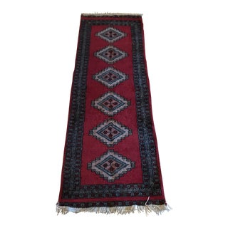 Vintage Wool Runner Rug - 2′ × 5′10″ For Sale