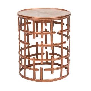 Kiaan Side Table in Copper