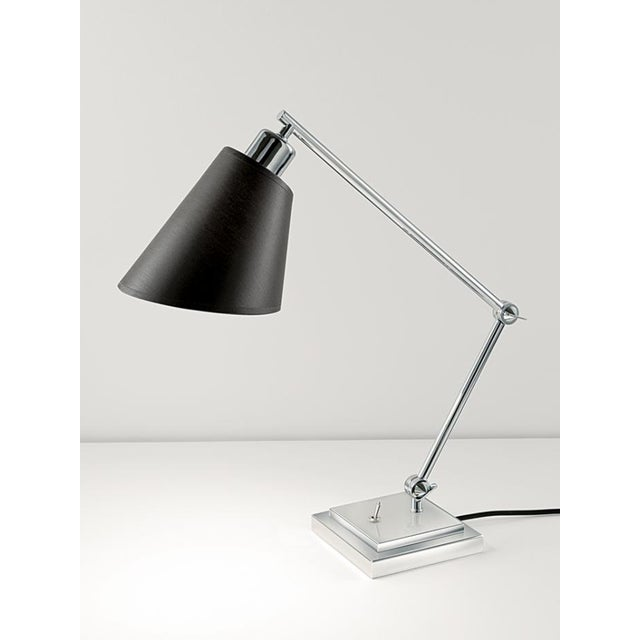 Desk lamps with heavy stepped bases and two toothed locking key swivel joints. Bases include integral toggle switch....