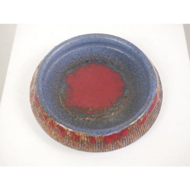Mid-Century Tilhman's Swedish Hand Turned & Glazed Ceramic Decorative Bowl, signed/marked at bottom (pictured).