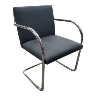 Replica Knoll Brno Tubular Side Dark Grey Patterned Chair For Sale