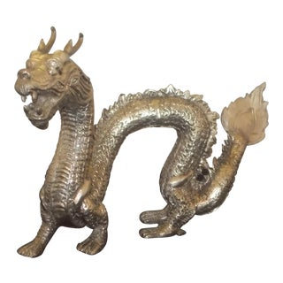 Silver Dragon Figurine