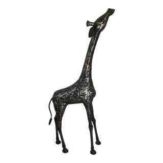 Tall Sculpted Steel Giraffe For Sale