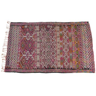 Moroccan Kilim Flat Weave Rug For Sale