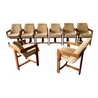 Mid Century Danish Modern Teak Dining Chairs- Set of 8 For Sale